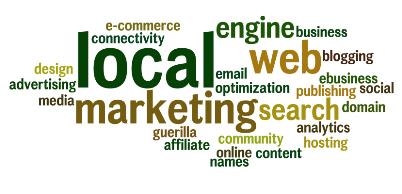 local advertising word cloud