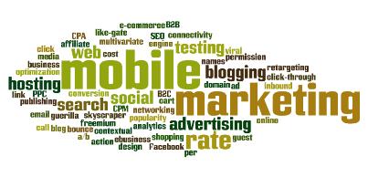 mobile marketing word cloud