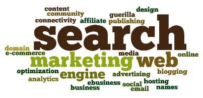 search marketing word cloud