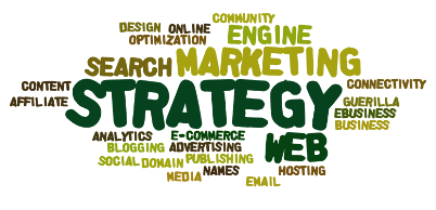 web strategy word cloud