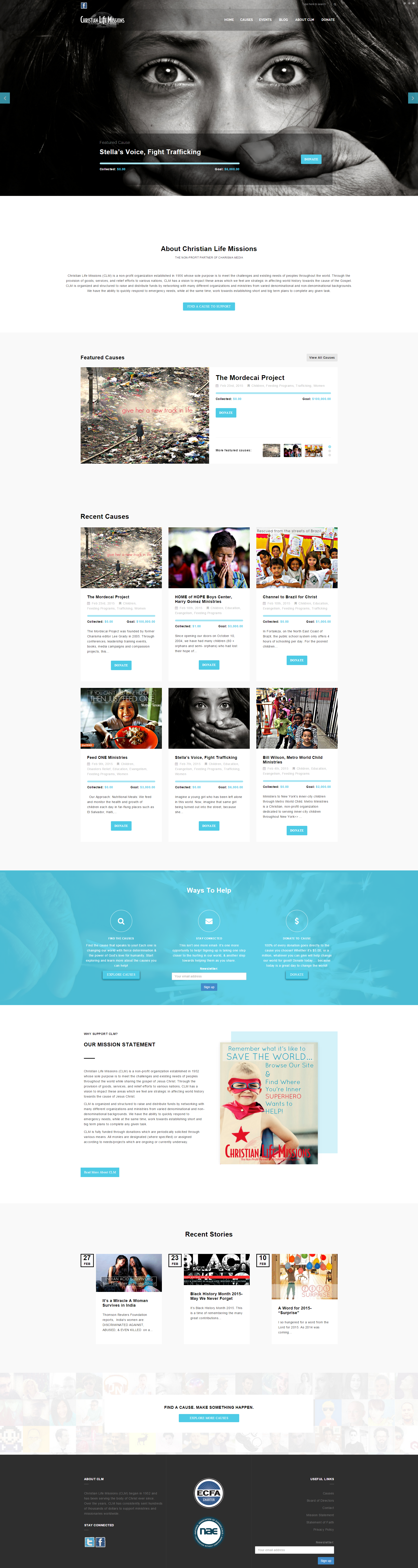 christian life missions website redesign after