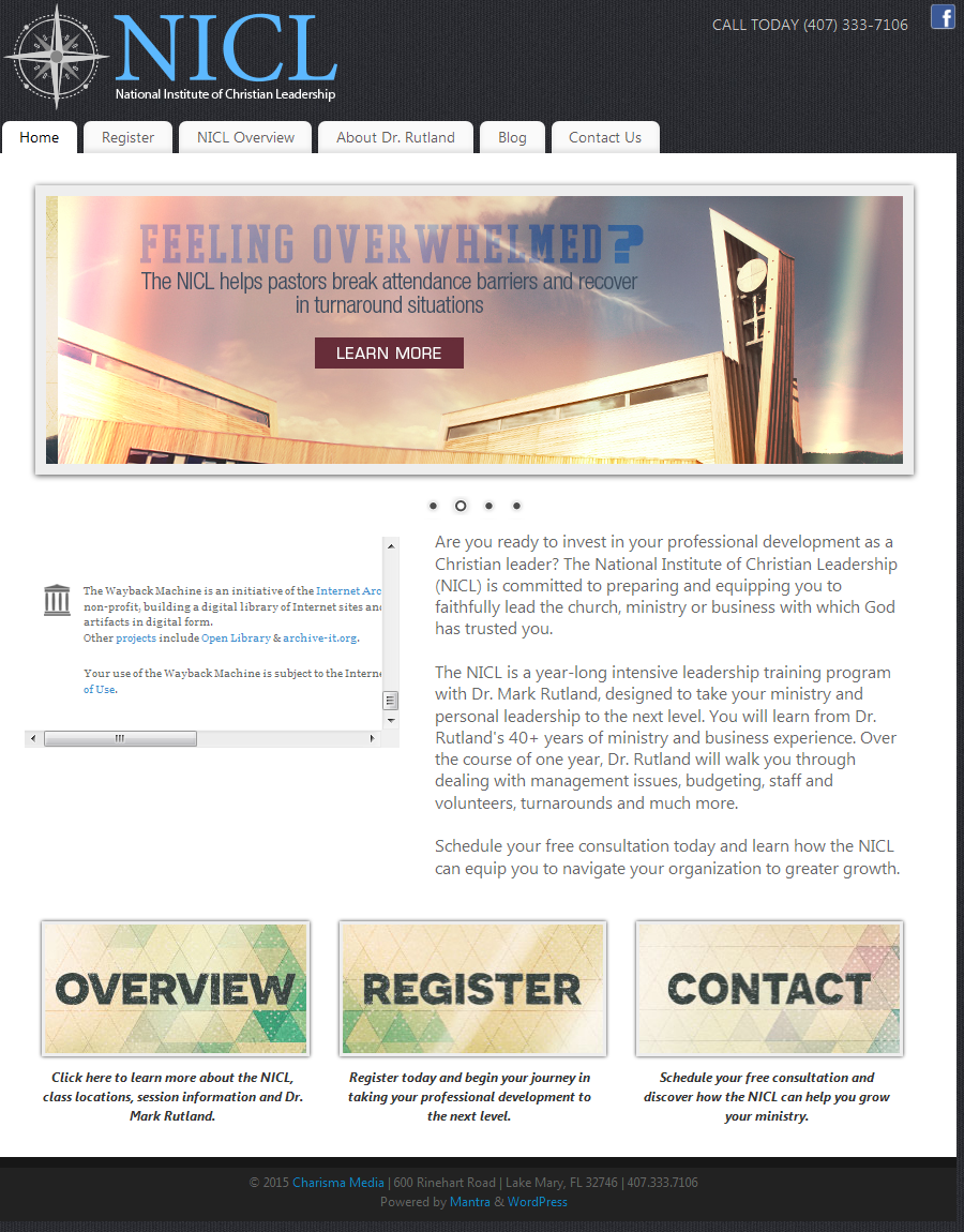 christian life missions website redesign